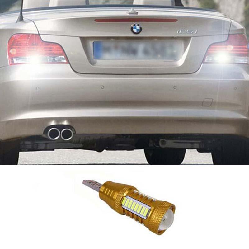 1pcs White 6000K T15 W16W CREE Chip SAM SUNG LED Reverse Backup Light Bulb For BMW 5 Series E60 E61 F10 F11 F07 Mini Cooper<br><br>Aliexpress