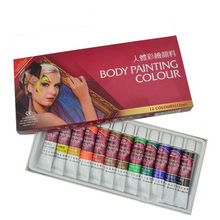 12 Colors Colorful Body Painting Crayon Oil Painting Makeup Pigment Kids Halloween Face Body Paint Set Face Painting Color Pen