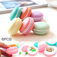 6PCS Bulk Jewelry Plastic Box Organizadores Gift Mini Macarons Candy Color Storage Boxs For Jewelry Organizer Wedding Decor