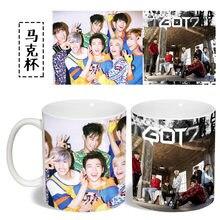 Got7 color changing mug Color Changeing Mug Print Anime Coffee Cup Man  Morning Tea Cups With Gift Box MKB774 eea58a976063