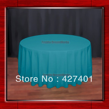 "Hot Sale 120""R Jade 210GSM Polyester plain Table Cloth For Wedding Events & Party Decoration(Supplier)(China)"