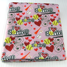 50*145CM fabric sports patchwork printed Polyester cotton fabric for Tissue Kids Bedding home textile for Sewing Tilda Doll,c427(China)