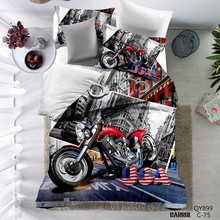 3D High Quality Motorcycle Duvet Cover Set Polyester/Cotton Twin Full Queen Bedding Set#N-YY-