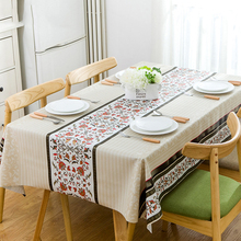 New Arrival Table Cloth Rectangular Printed Waterproof PVC Tablecloth Home Dining Room Table Protector Covering Multi-size(China)