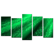 5 Piece New Design Wall Decoration Art Painting Green Aurora Digital Printing On Canvas Home Decor Wall Art Poster Paints Canvas