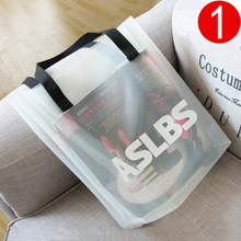 Large Women Bag PVC Transparent Women Shoulder Bags jelly Beach Bag summer candy color portable waterproof Totes Bucket Handbag