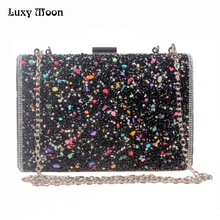 Hot Selling Clolorful Diamonds Clutch Purse Evening Bags Mixed Color Rhinestones Hand Bag Bridal Handbags/Wallet/Tote ZD493