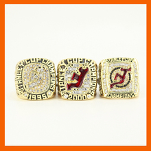 NHL 1995 2000 2003 NEW JERSEY DEVILS STANLEY CUP CHAMPIONSHIP RING, 3 RINGS AS A COLLECTION