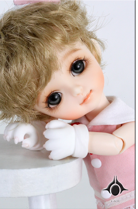 flash sale!free shipping!free makeup&amp;eyes!top quality bjd 1/8 baby doll lati Byurl Basic pink cat cute yosd hot toy kids<br><br>Aliexpress
