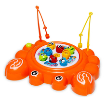 Kids Fishing Toys Electric Cartoon Crab Magnetic Magnet Fishing Toys Educational Toy Children Gift Family Fishing Game