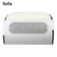 Sefia Professional Powerful Nail Dust Collector Machine With Hand Rest Strong Suction Fingernail Collection Nail Salon Tools(China)