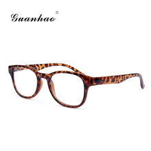 Guanhao Fashion Unbreakable Solid Ultralight Round Acetate Frame Unisex Reading Glasses Diopter Gafas Man Women Eyewear(China)