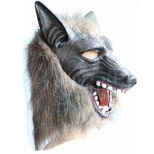 Terrible Bloodcurdling Horror Halloween Mask Costume Cosplayer Wolf Head Party Masks Creepy Latex Fur Mane Gag Stage prop(China)