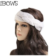 1Pc Fashion Women Girls Braid Crochet Knitted Bow Turban Head Hair Band Winter Ear Warmer Headband