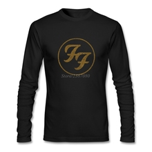 Foo Fighters Logo Vintage T Shirt Custom Long Sleeve Men's Clothes Pop 3d Printer Cotton Tee Shirts Homme(China)