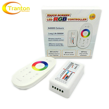 2.4G RGB LED Controller 3Channels 18A DC12-24V Touch Screen Remote Control for RGB LED Strip.
