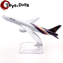 16cm Passenger Thai Passenger Air Plane Model A380 B-777 Diecast Airplane Model Kids Toys New Year/Birthday/Collections Gifts C
