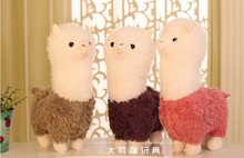 stuffed toy, lovely alpaca sheep plush toy, throw pillow,Christmas gift a8368(China)