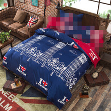 Home textile 1pc duvet cover blue red tower quilt cover flower butterfly printed polyester&cotton adult Summer Autumn bedding(China)