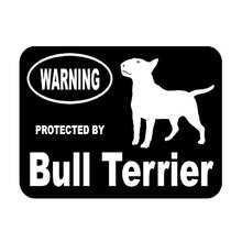 13.3cm*10cm Creative Fashion Protected By Bull Terrier Protected Animal Car Tail Car Stickers C5-1918(China)