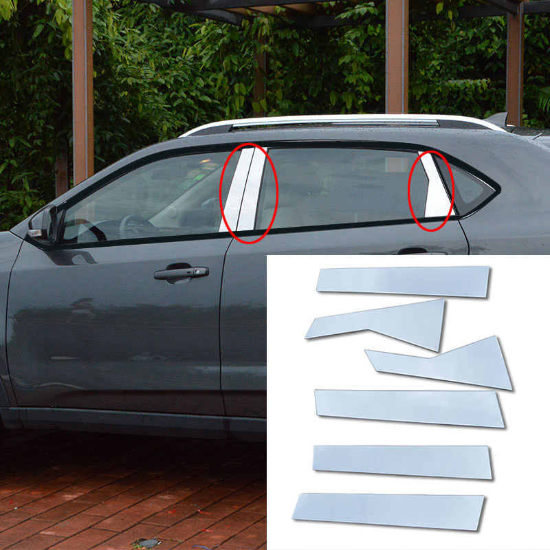 6PCS/SET stainless steel  FOR MG GS 2015 2016 column trim window bright strip sticker<br><br>Aliexpress