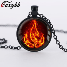 1PC Avatar the Last Airbender Fire Nation Necklace Jewelry Glass Pendant fashion necklaces FTC-N345