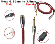 1m 2m 3m 5m 8m - Mono Male 6.35mm to 3.5mm Female Adapter Stereo Audio Cable For Amplifier VCD DVD Video  Extension Cords