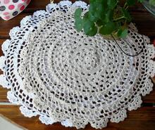HOT cotton placemat cup coaster mug holder kitchen accessories handmade table place mat cloth lace round DIY Crochet doilies pad