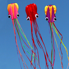 free shipping high quality soft octopus kite with handle line outdoor toys flying kite reel windsock large kite game jouer