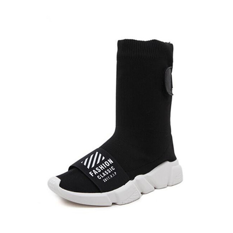 2017 Winter Newest Hot sale Fashion casual shoes Woman High help Socks Elastic force Flat shoes  Rome  Woman boots 35-40<br>