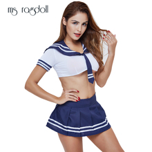 Buy Women Lingerie Sexy Erotic Costumes Lenceria Sexy School Cosplay Student Uniform Sex Products Girl Halloween Outfit Fancy Dress