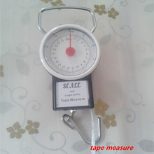 Buy Machinery spring balance Luggage Scale Fish hook scales Gift scales Shopping scales 22KG/250G 50LB 1M/39INCH tape measure for $1.78 in AliExpress store