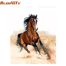 RUOPOTY Horse Animals Diy Painting By Numbers Unique Gift Home Decoration Wall Art Picture Acrylic Paint For Artwork 40x50cm