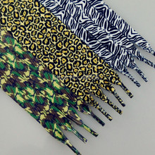 Free shipping printed shoelace 10mm  3 colors mixed  60 pairs/lot