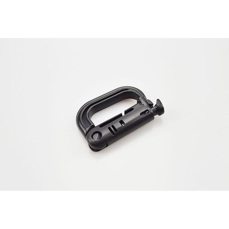 Plastic D Carabiner Black