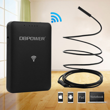 DBPOWER USB Endoscope With WIFI Box 7mm 1/3/5/10/15/20M 720P Inspection Snake camera Waterproof Wifi Endoscope(China)