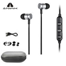 Aniwk2017 Sport bluetooth headset Wireless Bluetooth Earphones 4.1 With Microphone Stereo Bass Music Portable for Launching New(China)