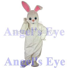 Factory Wholesale White Hoppy Rabbit Bunny Mascot Costume New Easter snowshoe rabbit Bugs Bunny Hare Fancy Dress SW1486