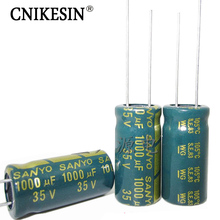 High Frequency Low Esr Long Life LCD Power Supply SANYO 35V1000UF Electrolytic Capacitor 1000UF 35V 10X20mm Capacitor