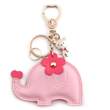 Milesi brand New keychain original design Bag Pendant elephant key chain innovative Items gift Novelty souvenir Trinket D0148(China)