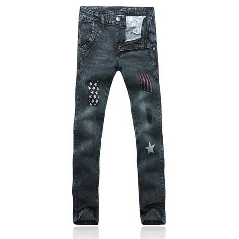 New 2016 jogging jeans brand jeans men straight mens casual pants mens denim trousers Mens elastic fashion printing jeansОдежда и ак�е��уары<br><br><br>Aliexpress