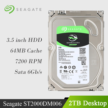 Seagate 2TB Desktop HDD Internal Hard Disk Drive 7200 RPM SATA 6Gb/s 64MB Cache 3.5-inch ST2000DM006 HDD Drive Disk For Computer(China)
