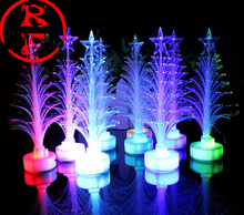 Top quality 2015 new Hot sale new year LED colors Christmas tree gifts fiber optic light Christmas hat activity supplies 120pcs(China)