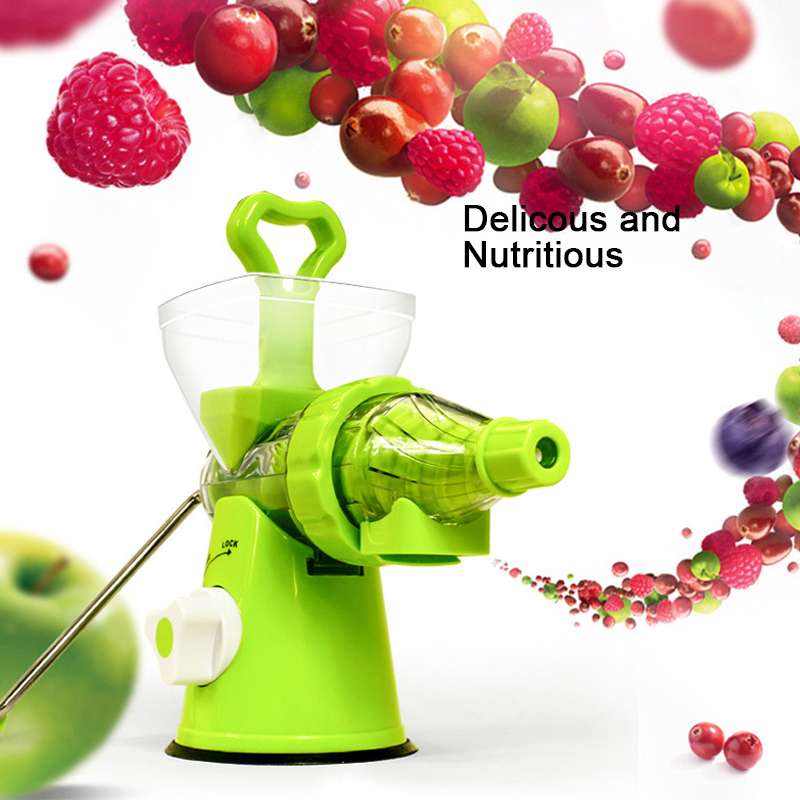 LUCOG Multifuctional Kitchen Manual Hand Crank Single Auger Juicer with Suction Base Hand Juicer for Wheatgrass Fruit Vegetable <br>