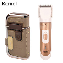 Kemei Golden Electric Cordless Adjustable Hair Cutter Beard Trimer+Compact Rechargeable Men Foil Shaver Razor Blade Heads Travel