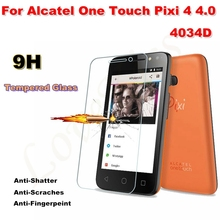 0.26mm 9H Explosion-proof Tempered Glass For Alcatel One Touch 4034D Pixi 4 4 4.0Inch Case Ultra-thin 2.5D Screen Protector Film