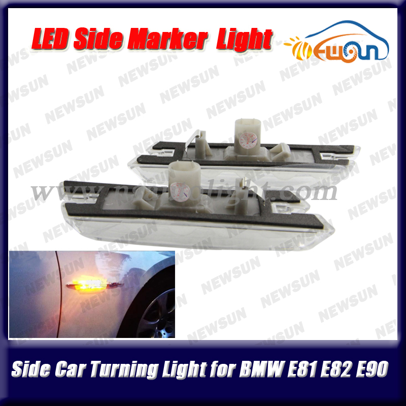 LED side marker light for E60 E61 E81 E82 E87 E88 E90 E91 fender turn signal lamp yellow clearance lights for BMW free shipping<br><br>Aliexpress