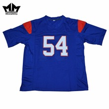 MM MASMIG Blue Mountain State Thad Castle 54 American Football Jersey Blue