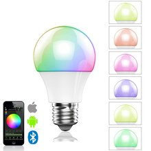 16000 Colors Change 4.5W E27 RGBW Wireless led light bulb Bluetooth 4.0 smart lighting Energy Save lamp dimmable Multicolored