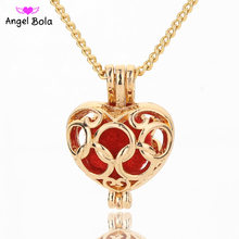 Angel Bola Aquarius Perfume Necklace Pendant For Women Sweater Chain Aromatherapy Oil Pendant Cage Jewelry L142